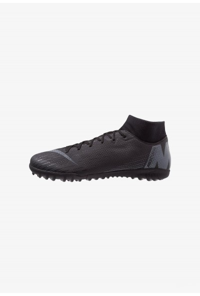 Nike MERCURIAL SUPERFLYX 6 ACADEMY TF - Chaussures de foot multicrampons black/anthracite/light crimson liquidation