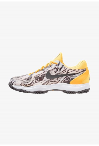 Nike AIR ZOOM CAGE 3 HC - Chaussures de tennis sur terre battue pure platinum/thunder grey/laser orange/white liquidation