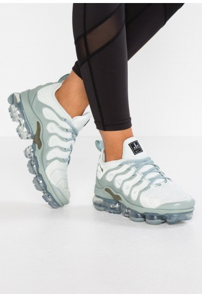 Nike VAPORMAX PLUS - Baskets basses light silver/medium olive/green liquidation