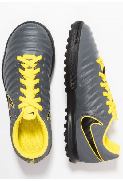 Nike TIEMPO LEGENDX 7 CLUB TF - Chaussures de foot multicrampons dark grey/black/opti yellow liquidation