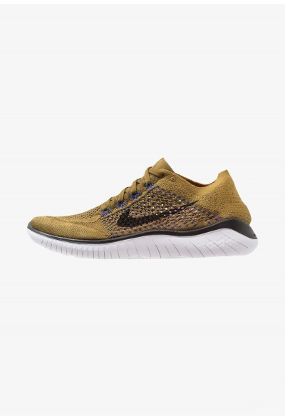 Black Friday 2020 | Nike FREE RUN FLYKNIT 2018 - Chaussures de course neutres olive flak/black/desert moss/white/racer blue/hyper crimson liquidation