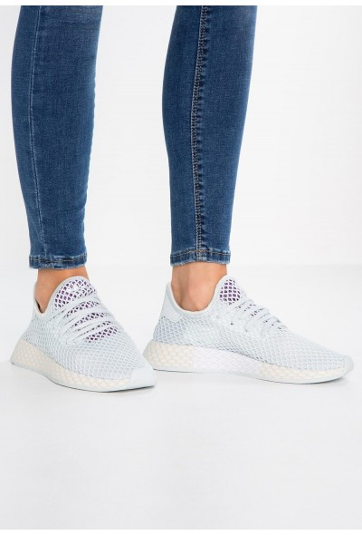 Adidas DEERUPT RUNNER - Baskets basses blue tint/ecru tint/active purple  pas cher