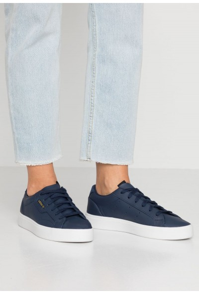 Adidas SLEEK - Baskets basses collegiate navy/crystal white pas cher