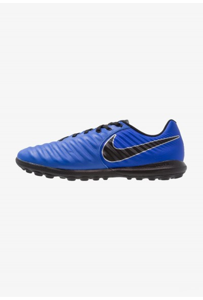 Nike TIEMPO LUNAR LEGENDX 7 PRO TF - Chaussures de foot multicrampons racer blue/black/metallic silver liquidation