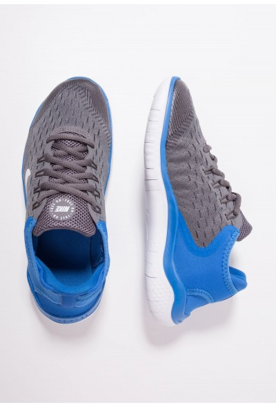 Black Friday 2020 | Nike FREE RN 2018 - Chaussures de course neutres gunsmoke/white/signal blue/thunder grey liquidation