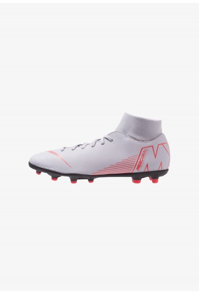 Nike MERCURIAL 6 CLUB MG - Chaussures de foot à crampons wolf grey/light crimson/black liquidation