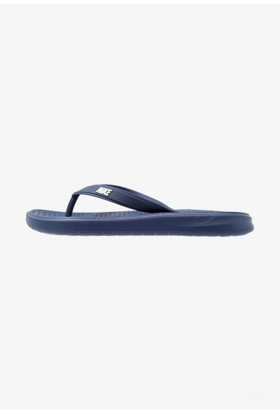 Nike SOLAY THONG - Tongs blau/weiß liquidation