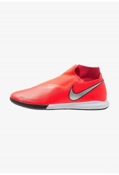 Nike PHANTOM OBRAX 3 ACADEMY DF IC - Chaussures de foot en salle bright crimson/metallic silver/university red/black liquidation
