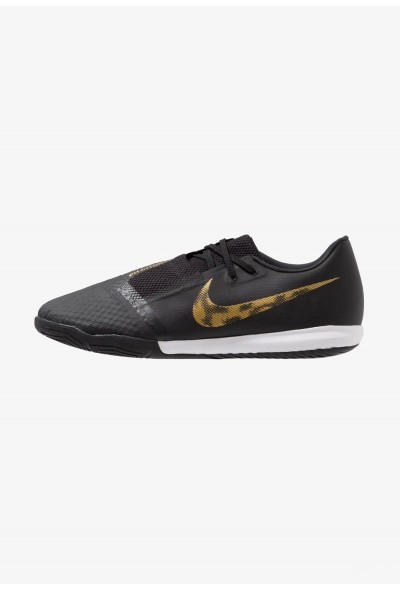 Nike PHANTOM ACADEMY IC - Chaussures de foot en salle black/metallic vivid gold liquidation