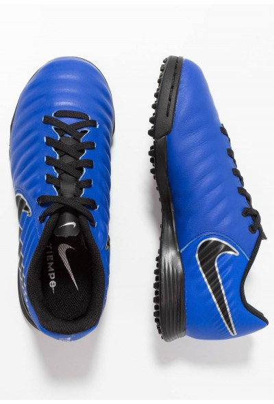 Nike TIEMPO LEGENDX 7 ACADEMY TF - Chaussures de foot multicrampons racer blue/black/metallic silver liquidation