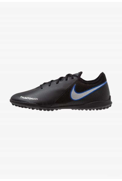 Nike PHANTOM  VSN ACADEMY TF - Chaussures de foot multicrampons black/metallic silver/racer blue liquidation