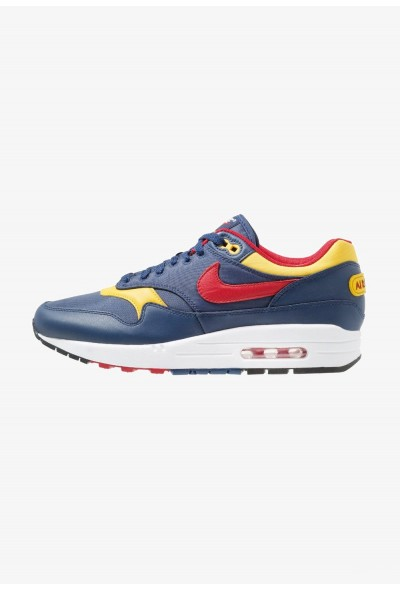 Nike AIR MAX 1 PREMIUM - Baskets basses navy/gym red/vivid sulfur/white liquidation