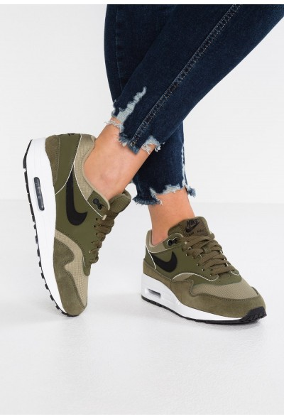 Nike AIR MAX 1 - Baskets basses olive/black/neutral olive/white liquidation
