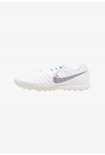 Black Friday 2020 | Nike TIEMPO LUNAR LEGENDX 7 PRO TF - Chaussures de foot multicrampons white/chrome/blue hero liquidation
