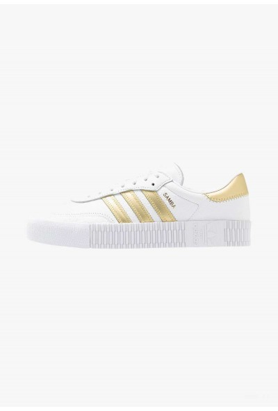 Adidas SAMBAROSE - Baskets basses footwear white/gold metallic pas cher