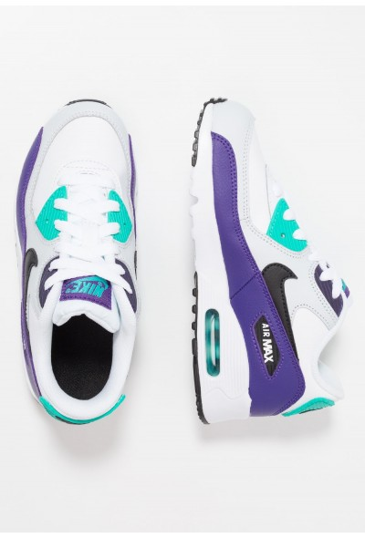 Nike AIR MAX 90 - Baskets basses white/black/hyper jade/court purple liquidation