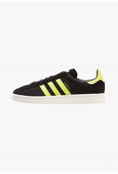 Adidas CAMPUS - Baskets basses core black/semi solar slime/offwhite pas cher