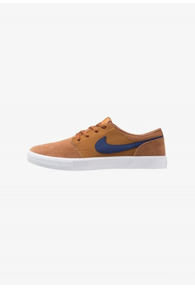 Nike SOLARSOFT PORTMORE  - Baskets basses light british tan/blue void/black/monarch liquidation