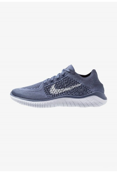 Nike FREE RUN FLYKNIT 2018 - Chaussures de course neutres diffused blue/thunder blue/blue void/football grey liquidation