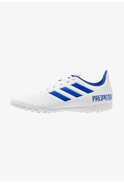 Adidas PREDATOR 19.4 TF - Chaussures de foot multicrampons footwear white/bold blue pas cher