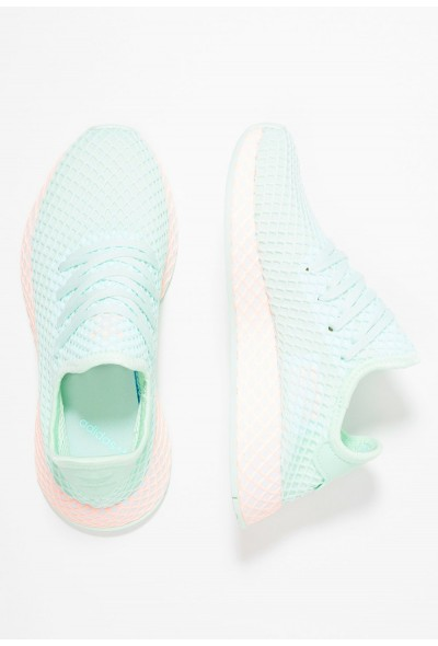 Adidas DEERUPT RUNNER - Baskets basses ice mint/footwear white/clear orange pas cher