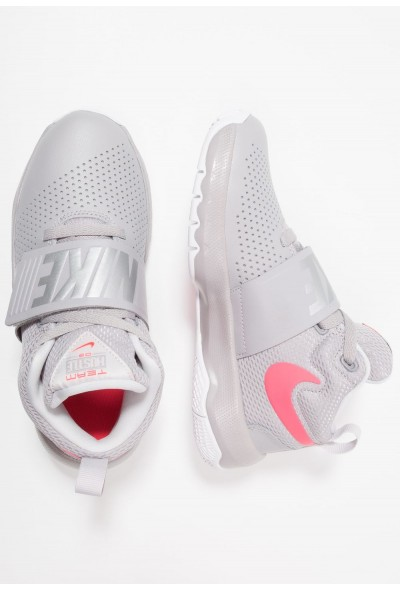 Nike TEAM HUSTLE D 8 - Chaussures de basket atmosphere grey/racer pink/vast grey/white liquidation