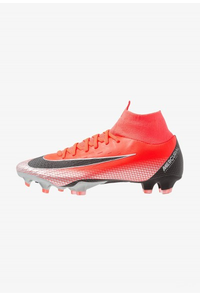 Nike PRO CR7 FG - Chaussures de foot à crampons bright crimson/black/chrome/dark grey liquidation