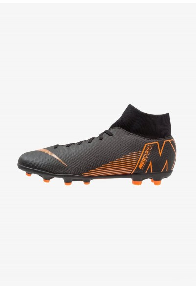 Nike MERCURIAL 6 CLUB MG - Chaussures de foot à crampons black/total orange/white liquidation
