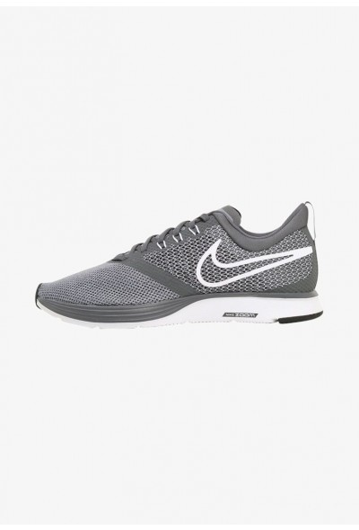 Nike ZOOM STRIKE - Chaussures de running neutres - dark grey/white-stealth dark grey/white-stealth-black liquidation