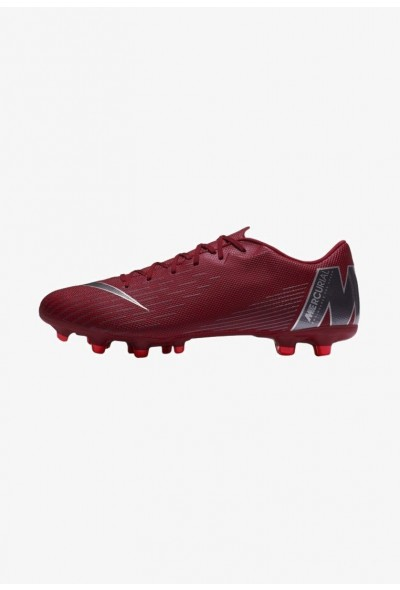 Nike MERCURIAL VAPOR 12 ACADEMY MG - Chaussures de foot à crampons bordeaux/dark grey liquidation