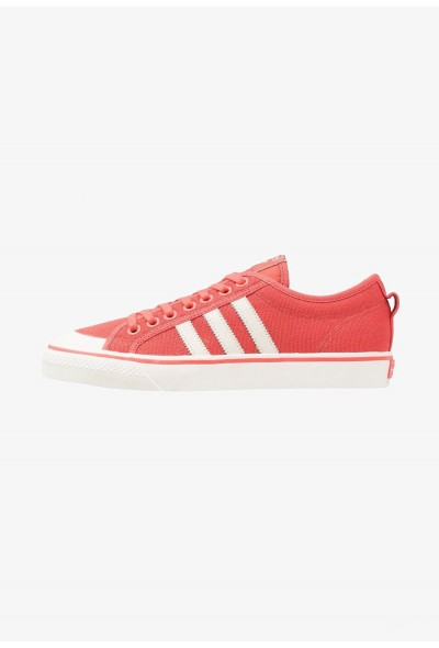 Adidas NIZZA - Baskets basses trace scarlet/footwear white pas cher