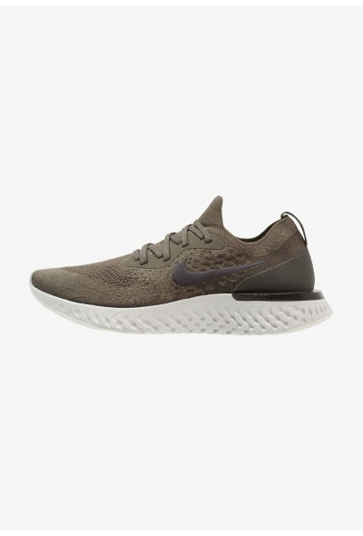 Nike EPIC REACT FLYKNIT - Chaussures de running neutres cargo khaki/black/sequioa liquidation