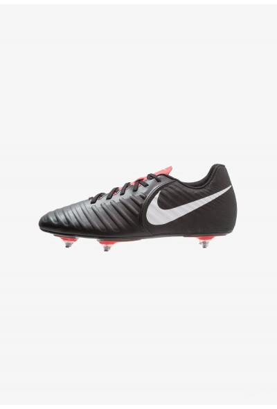 Nike TIEMPO LEGEND 7 CLUB SG - Chaussures de foot à lamelles black/pure platinum/light crimson liquidation