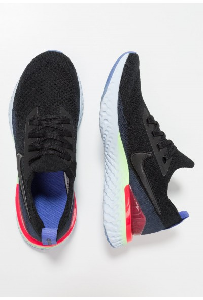 Nike EPIC REACT FLYKNIT 2 - Chaussures de running neutres black/ sapphire/lime blast liquidation
