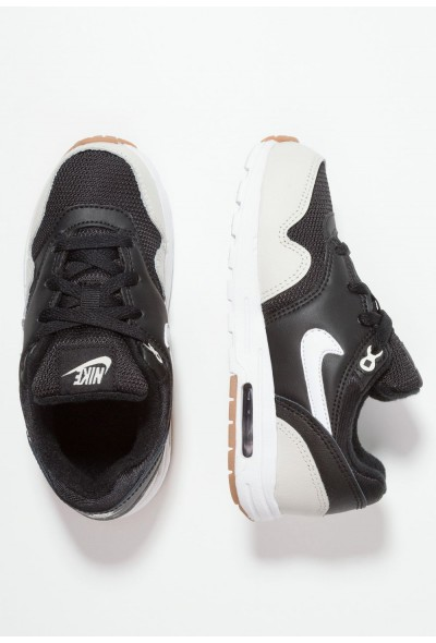 Nike AIR MAX 1 - Baskets basses black/light bone/medium brown/white liquidation