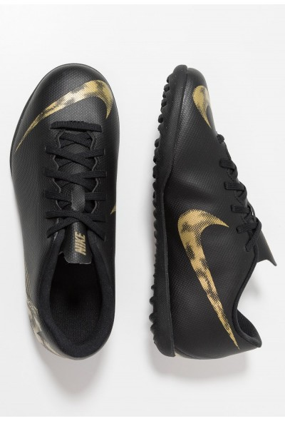 Nike MERCURIAL VAPORX 12 CLUB TF - Chaussures de foot multicrampons black/metallic vivid gold liquidation