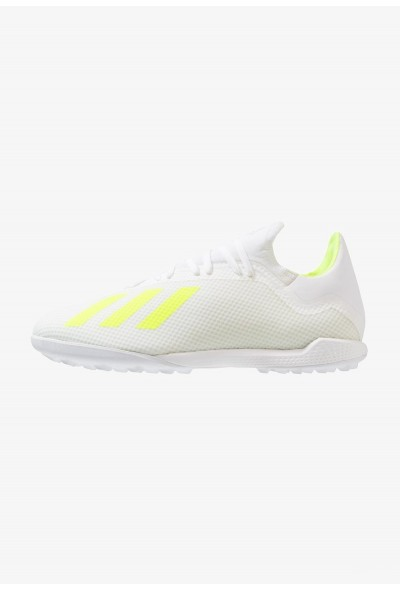 Adidas X 18.3 TF - Chaussures de foot multicrampons footwear white/shock yellow pas cher