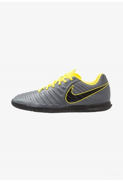 Nike TIEMPO LEGENDX 7 CLUB IC - Chaussures de foot en salle dark grey/optic yellow/black liquidation