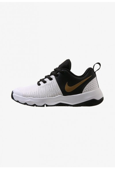 Nike TEAM HUSTLE QUICK - Chaussures de basket black/metallic gold/white liquidation