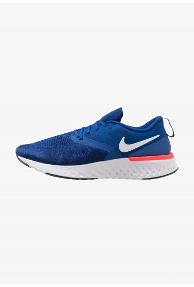 Nike ODYSSEY REACT 2 FLYKNIT - Chaussures de running neutres indigo force/white/blue void/red orbit liquidation