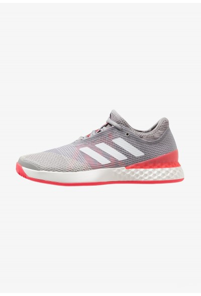 Adidas ADIZERO UBERSONIC 3 - Chaussures de tennis sur terre battue light granite/footwear white/shock red pas cher