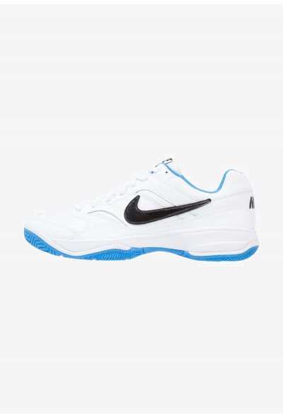 Nike COURT LITE - Baskets tout terrain white/black/light photo blue liquidation