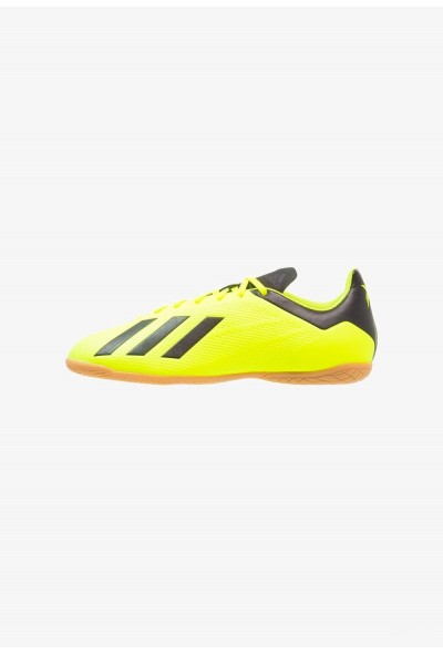 Adidas X TANGO 18.4 IN - Chaussures de foot en salle semi solar yellow/ core black/ footwear white pas cher