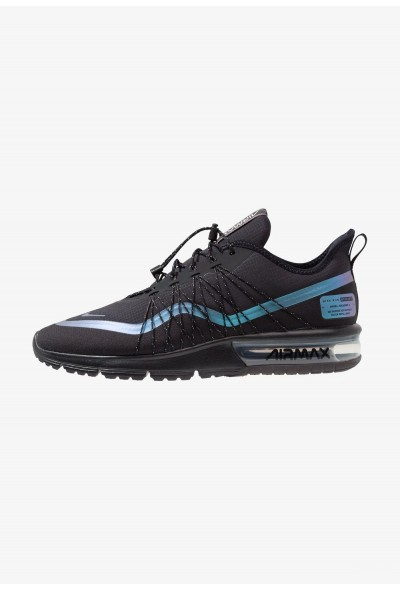 Black Friday 2019 | Nike AIR MAX SEQUENT 4 UTILITY - Chaussures de running neutres black/racer blue/thunder grey/metallic silver liquidation