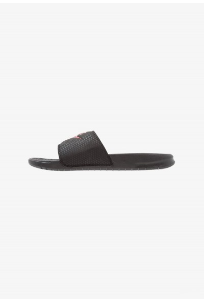 Black Friday 2020 | Nike BENASSI JDI - Sandales de bain black/challenge red liquidation