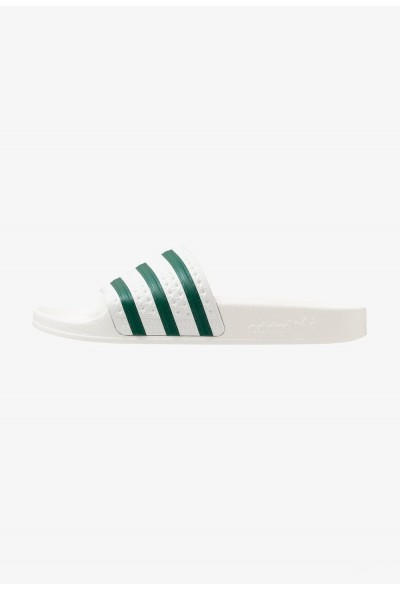 Black Friday 2019 | Adidas ADILETTE - Sandales de bain offwhite/clear green pas cher