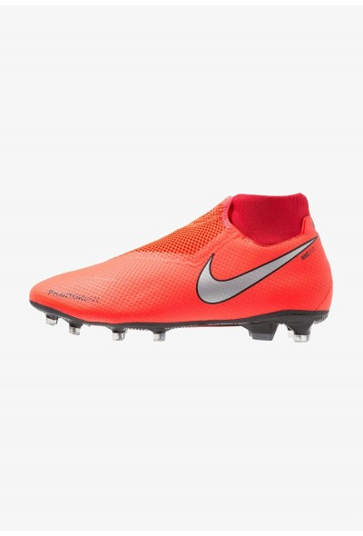 Nike PHANTOM OBRA 3 PRO DF FG - Chaussures de foot à crampons bright crimson/metallic silver/university red/black liquidation