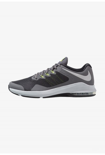 Nike AIR MAX ALPHA TRAINER - Chaussures d'entraînement et de fitness dark grey/metallic silver/cool grey/wolf grey/black/volt liquidation