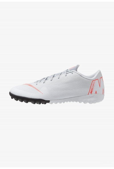 Nike MERCURIAL VAPORX 12 ACADEMY TF - Chaussures de foot multicrampons wolf grey/light crimson/pure platinum/metallic silver liquidation