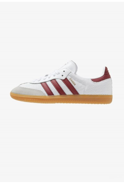 Adidas SAMBA - Baskets basses white/bordeaux/grey pas cher